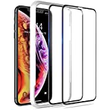 OMOTON 3D Full Coverage Tempered Glass Screen Protector Compatible with iPhone Xs Max 6.5 inch [2 Pack]
