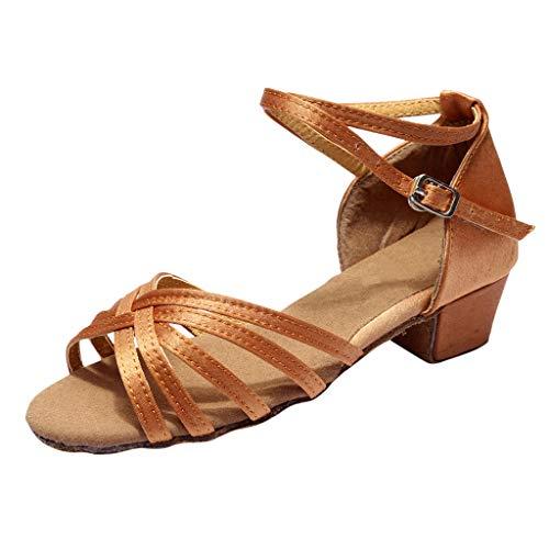 Footwear Brown Smooth - Duseedik Women's Dancing Sandals Summer Rumba Waltz Prom Ballroom Latin Salsa Party Outdoor Shoes Brown