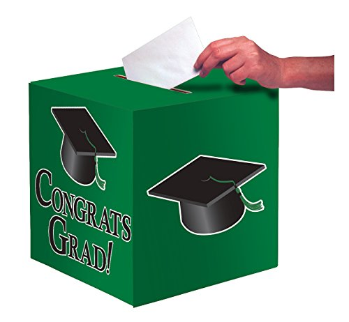 Creative Converting 083313 Card Holder Box, One Size, Emerald Green -