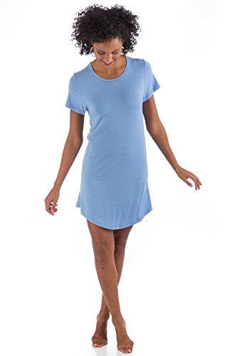 BN620 Extra Large Periwinkle Knit BambooDreams Betsy Nightshirt