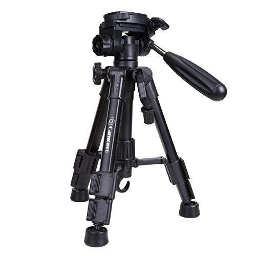 Mini Tripod - Camopro Portable Desktop Mini Tabletop Tripod for SLR DSLR Camera iPhones Smartphones Binoculars and Camcorder with 3-Way Head, Quick Release Plate and Carrying - Telescope Tabletop Tripod