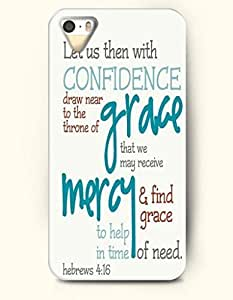 iPhone 4 4S Case OOFIT Phone Hard Case **NEW** Case with Design Let Us Then With Confidence Draw Near To The Throne Of Grace That We May Receive Mercy And Find Grace To Help In Time Of Need Hrbrew 4:16- Bible Verses - Case for Apple iPhone 4/4s