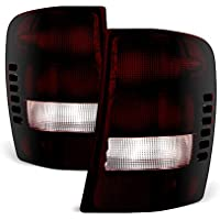 VIPMOTOZ Smoke Red Lens OE-Style Tail Light Lamp Assembly For 1999-2004 Jeep Grand Cherokee, Driver & Passenger Side