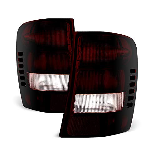 (VIPMOTOZ Smoke Red Lens OE-Style Tail Light Lamp Assembly For 1999-2004 Jeep Grand Cherokee, Driver & Passenger Side)