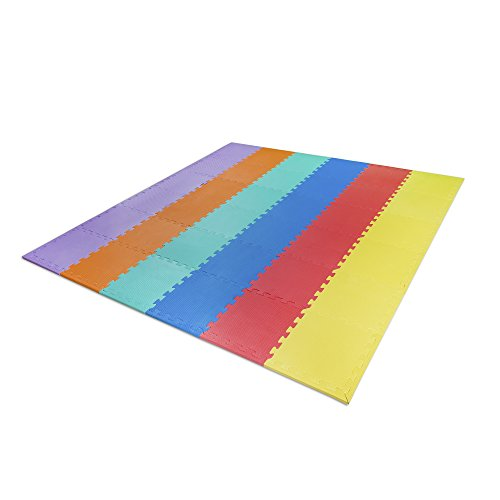 BabyBubz Jumbo Foam Playmat - Interlocking Mats for Babies, Toddlers, Kids and Young Children - Safe Non-Toxic Floor Play - Lifetime Guarantee (Playground Padding compare prices)