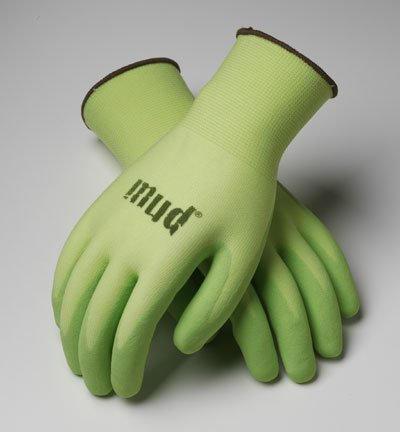 (Mud Glove The Simply, Kiwi, Size M - Nitrile Gloves - Soft Yet Durable)