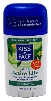 Kiss My Face Active Life Stick Deodorant, Cucumber Green Tea - 2.48 Ounce, 6 Pack by KISS MY FACE
