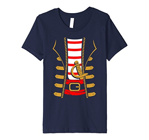 Kids Pirate Costume Halloween Shirt - Sword Buccaneer Sailer Gift 4 Navy