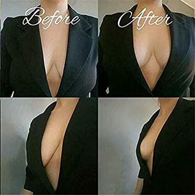 Weletric Lift up Invisible Bra Tape Stick on Bra Adhesive Nipplecovers for Woman Plus Size C//D//DD//E Cup Backless Dress