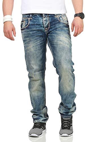 Cipo Gürtel Jeans Hose Baxx Bleu Ohne Droite Homme amp; Jambe rqwzxR1Hr