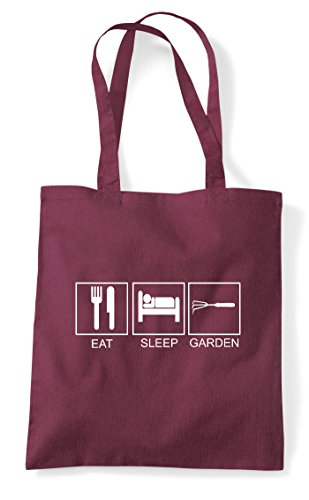 Eat Hobby Tiles Activity Burgundy Garden Bag Tote Funny Shopper Sleep rwHBCnFqr