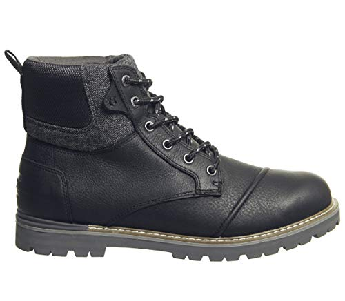 TOMS Waterproof Black Leather Brushed Wool Men's Ashland Boots (13)