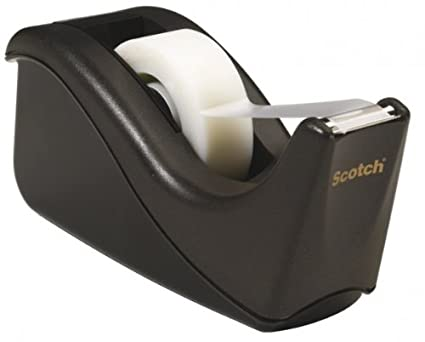Scotch Kit con Dispenser, 1 Rotolo di Nastro Adesivo 3M Scotch Magic, Nero C60-BK