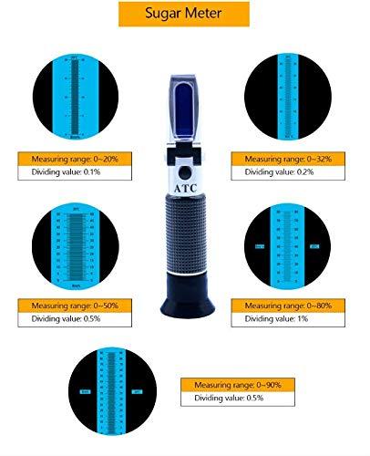 WANGYONGQI Refractómetro automático medidor de salinidad óptica 0-100% maricultura Comida Agua de mar salinidad probador Prisma proporción de Sal 1, ...