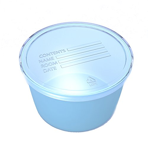 Dynarex Plastic Denture & Retainer Baths - Blue - 8 oz Container Cup - 250 Count by Dynarex