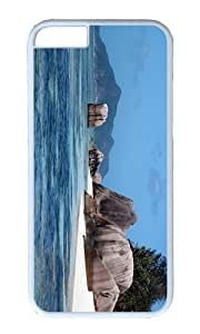 Adorable Island Rock La Digue Seychelles Hard Case Protective Shell Cell Phone Cover For Iphone 5C - PC White