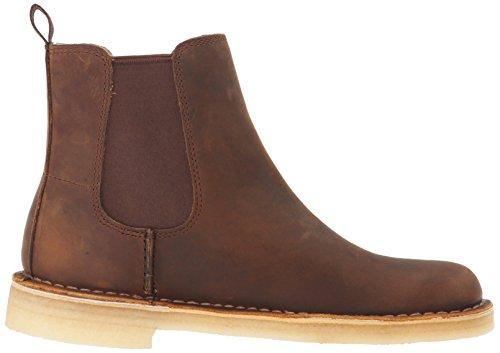 CLARKS Womens Desert Peak. Chelsea Boot Beeswax Brown Leather lbMBSFr2