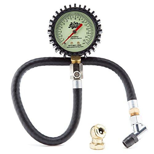 Joes Racing 32305 (0-15) PSI Tire Pressure Gauge (Dirt Bike Tire Gauge)