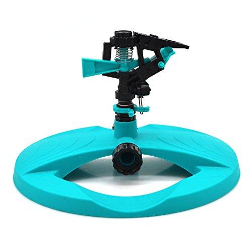 Flantor Lawn Sprinkler, 2018 Upgrade Version High-Performance Water Sprinkler Irrigation System – 360° Adjustable Rotating Impulse Head Fits Any Yard Shape