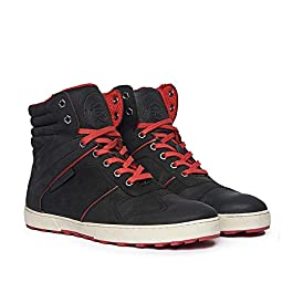 Royal Enfield Men Black Leather Outdoor Boots-9 UK (43 EU) (SHOSS1801)