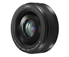 20mm focal length, equivalent to 40mm on a 35mm film camera F1.7 brightness for beautiful, soft focus Comprised of seven lenses in five groups Used with Lumix G Micro System Cameras, allows for use of the advanced contrast Auto Focus (AF) sys...