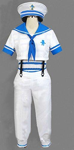 Relaxcos Free! Iwatobi Swim Club Nanase Haruka Sailor Uniform Cosplay Costume (Sailor Outfits For Men)