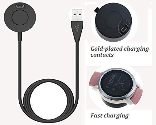 Compatible with Fenix 5/5S/5X Plus Charging Dock,USB Charger Cradle for Vivoactive 3/Vivosport/Approach S60/Forerunner 935/D2 Charlie/Quatix 5/Quatix 5 Sapphire/Approach X10 Smart Watch