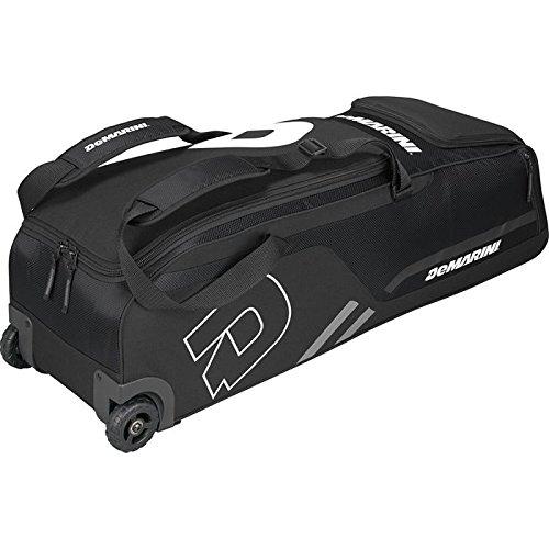 DeMarini Momentum Baseball Wheeled Bag-Black