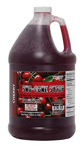 Concession Express Pure Cane Sugar Snow Cone Syrup (Cherry)