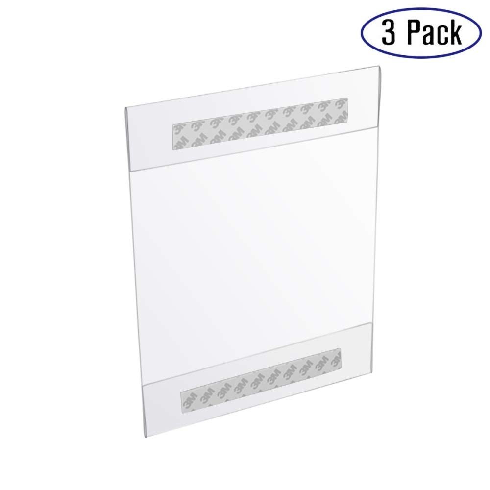 8.5 X 11 Clear Acrylic Sheet Wall Mount Sign Holder - 3 Pack (3)
