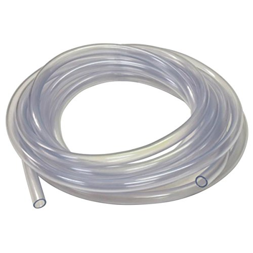 Flexible Pvc Tubing - Mango 2 Pack of 10 Feet Clear Vinyl PVC Non-Toxic Flexible Tubing ½-inch (OD) by ⅜-inch (ID) Complete with Bonus 2 Stainless Steel Hose Clamps