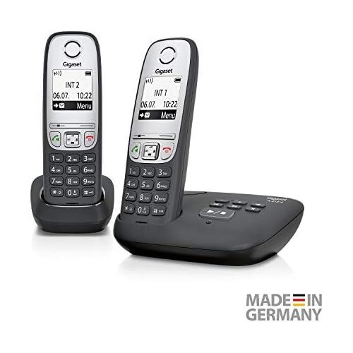 chollos oferta descuentos barato Gigaset A415A Duo Teléfono inalámbrico DECT 50 m 300 m 100 entradas Negro