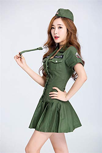 Swat Costume Ladies Cosplay Uniform Temptation Female spy Officer Uniform Game Clothes bar Party Stage Costumes,S]()
