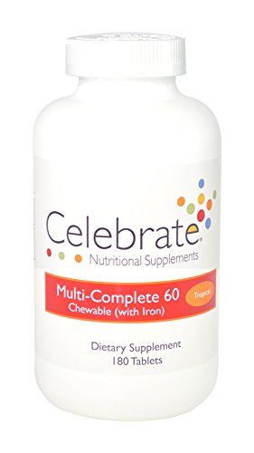 Celebrate Multi-Complete 60 with Iron – Tropical – 180 Count