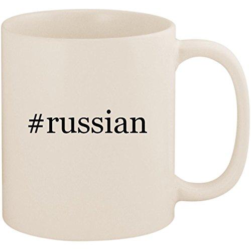 #russian - 11oz Ceramic Coffee Mug Cup, White