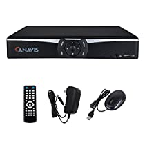 4 Channel DVR 1080N H.264 QR Code Scan Quick Access Motion Detection Email Alerts Smart phone & PC Easy Remote Access for CCTV Security Camera System (NO HDD)