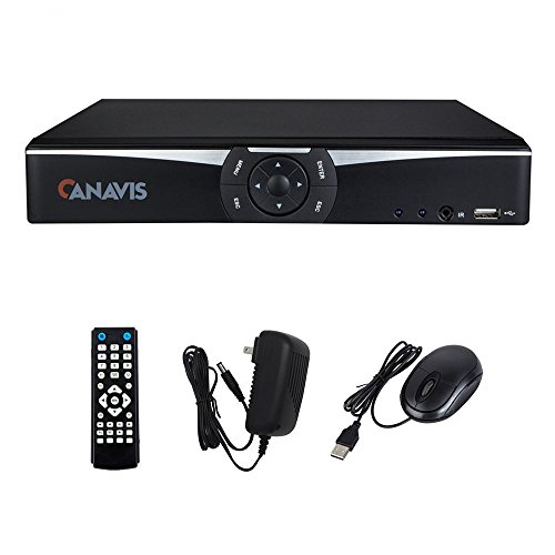 4 Channel DVR 1080N Standalone H.264 QR Code Scan Quick Access Motion Detection Email Alerts Smart Phone & PC Easy Remote Access for CCTV Security Camera System (NO HDD) Four Channel Dvr