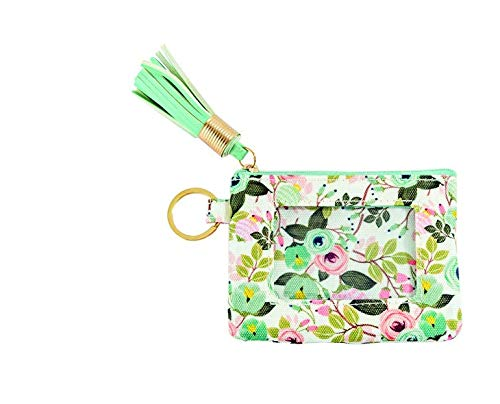 Mary Square ID Wallet Peach, Floral