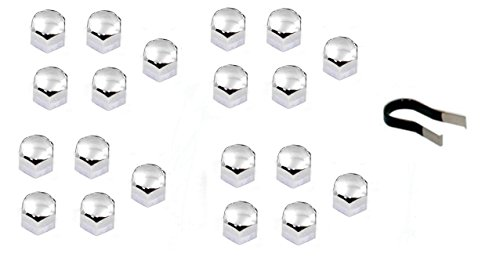 CHROME LUG BOLT NUT COVERS FOR BMW MODELS - ALL MODELS