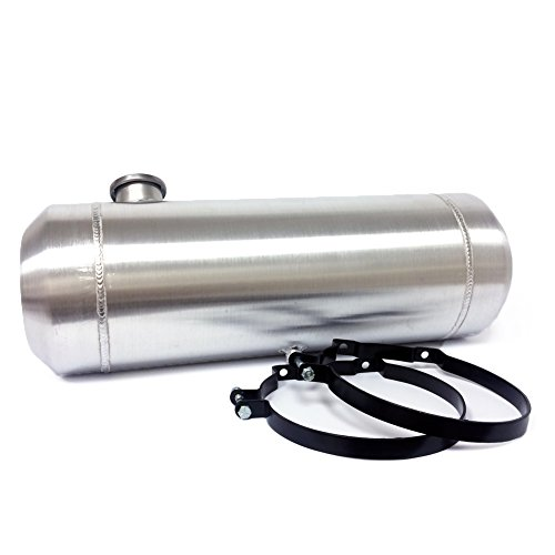 8x33 Round End Filler Spun Aluminum Gas Tank - 7 Gallons - Dune Buggy - 1/4 NPT