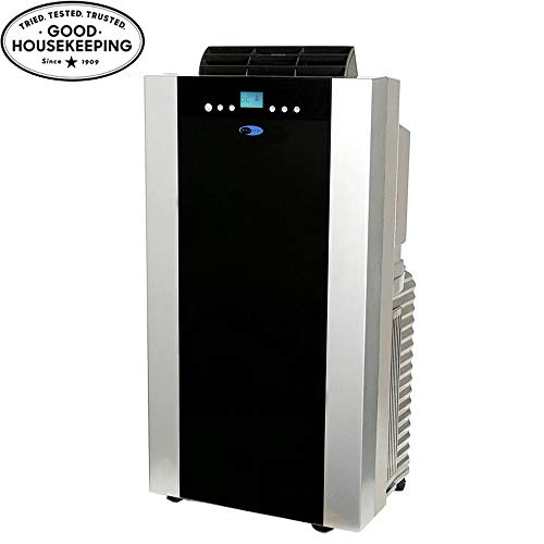 Whynter ARC-14S 14,000 BTU Dual Hose Portable Air Conditioner, Dehumidifier, Fan with Activated Carbon Filter plus Storage bag for Rooms up to 500 sq ft ()