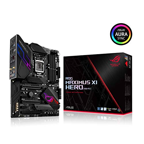 ASUS ROG Maximus XI Hero (Wi-Fi) Z390 Gaming Motherboard LGA1151 (Intel 8th 9th Gen) ATX DDR4 DP HDMI M.2 USB 3.1 Gen2 802.11AC Wi-Fi (Best Water Cooling Setup)