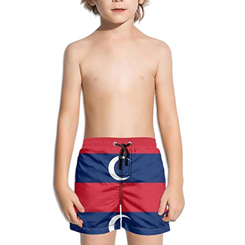 Lenard Hughes Boys Quick Dry Beach Shorts Pockets Albanian Muslim Flag Swim Trunks Summer by Lenard Hughes