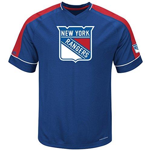 Majestic NHL New York Rangers Men's Expansion Draft Fashion Tops, Royal/Red/White, X-Large