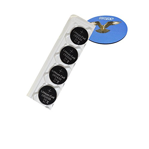 HQRP 4-Pack Coin Lithium Battery for Volvo Key Remote First S80 07-V70/XC70 08-XC60 + HQRP Coaster ()