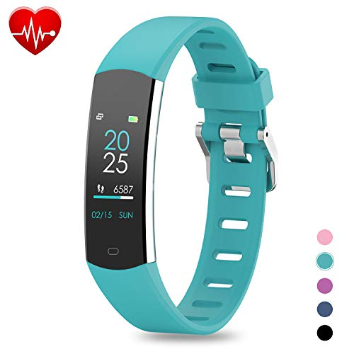 BingoFit 905HR Fitness Activity Tracker, Slim Wearable Water Resistant and Sleep Monitor, Wireless Pedometer Wristband Calorie Step Counter Watch for Kids Women Men (Best Wearable Calorie Counter)