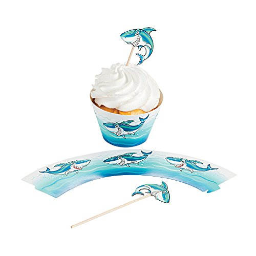 Fun Express Shark Cupcake Wrappers