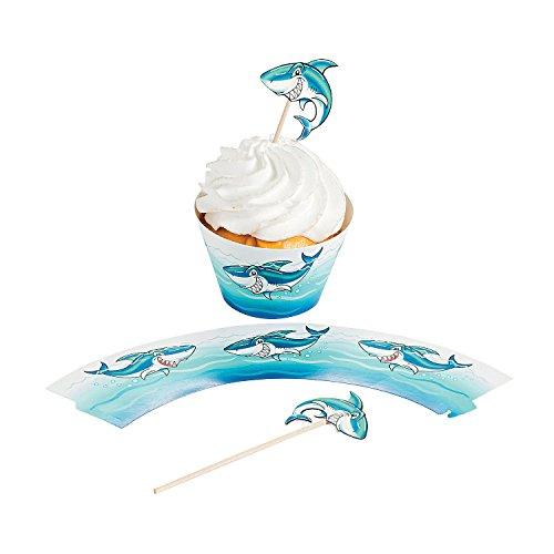Fun Express Shark Cupcake Wrappers