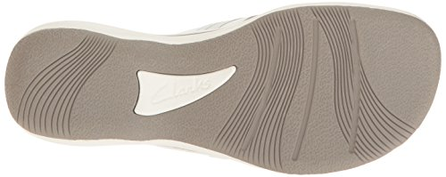 Clarks Brinkley Jazz Thong Sandale White Synthetic