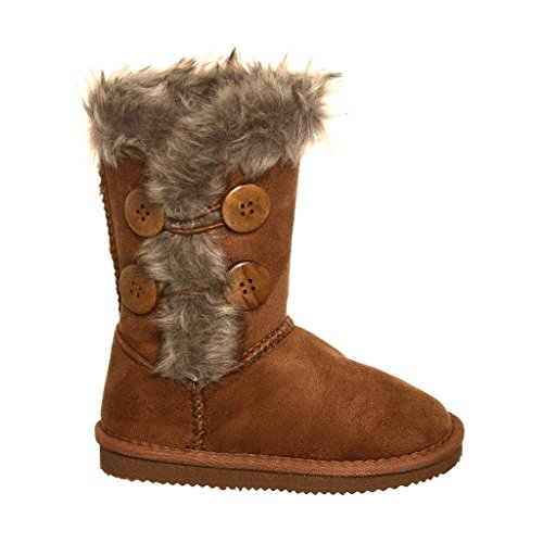 Faux Fur Lined Ankle Boot for Girls (3, (Girls Faux Fur Boots)